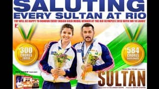 Rio Olympics 2016 and Sultan: YRF to honour Indian gold medal winners with Rs 10 lakh in cash!