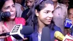 Grand welcome for wrestler Sakshi Malik in Haryana
