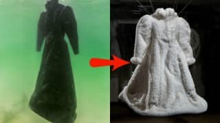 This boring black dress was thrown inside the dead sea for 2 months. When it was removed, it was a shining miracle!