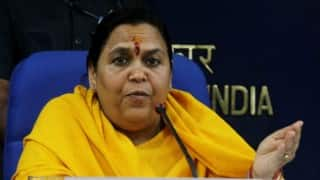 Namami Gange is 'atonement' for polluting the river: Uma Bharti