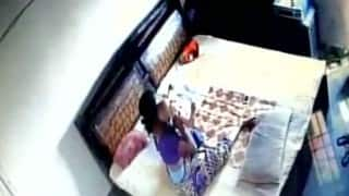 Disturbing CCTV video shows woman beating and trying to strangle infant son in Bareilly!