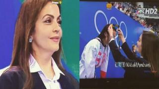 Nita Ambani distributes medals at Rio Olympics victory ceremony