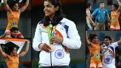 Sakshi Malik wins bronze medal in women's wrestling 58kg category, Olympics 2016: Here is her bronze medal winning story in 9 pictures