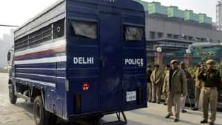 Delhi Police PCR van hit by car in South Delhi