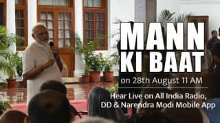 Mann Ki Baat Live Updates: Listen to Prime Minister Narendra Modi's speech live on All India Radio