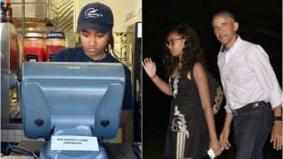 Barack Obama's daughter Sasha Obama working at restaurant in her summer break is parenting done right!