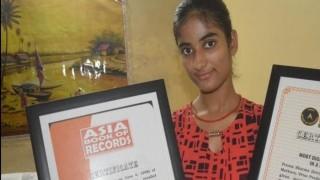 Prerna Sharma of Mathura can memorise over 100 random numbers in less than a minute, awarded Laxmi bai Award!