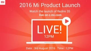 Live Streaming Xiaomi Redmi 3S India Launch: Watch Redmi 3S Launch Telecast Online at 12 PM