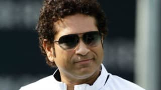 After knee surgery, Sachin Tendulkar attends Rajya Sabha