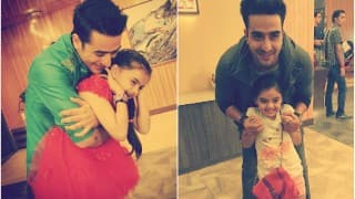 Aww! Ruhi and chachu Romi share a cute moment on the sets of Yeh Hai Mohabbatein