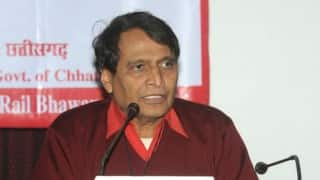 Suresh Prabhu commissions new rail line in Andhra Pradesh