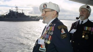 World War Two veterans gather in Russia to mark 75 years of arrival of Allied Arctic Convoys at Soviet port