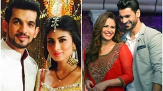 Naagin actors Arjun Bijlani and Mouni Roy all set to enter Mona Singh-Vivek Dahiya's show Kawach!
