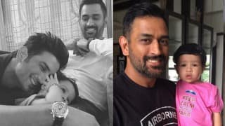 When Ziva Dhoni became part of M S Dhoni: The Untold Story mania with MS Dhoni & Sushant Singh Rajput!