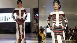 Acid attack survivor Reshma Qureshi showed exemplary courage walking the ramp at New York Fashion Week
