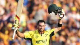 टी-20 रैंकिंग: मैक्सवेल बने नंबर-1 हरफनमौला खिलाड़ी