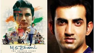 Here's why Gautam Gambhir thinks MS Dhoni does not deserve biopic MS Dhoni: The Untold Story starring Sushant Singh Rajput!