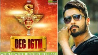 Suriya S3 Poster: Suriya's Singham 3 set for worldwide release on Dec 16
