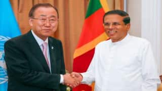 Ban Ki-moon meets Maithripala Sirisena; pledges support to Sri Lanka's reform agenda