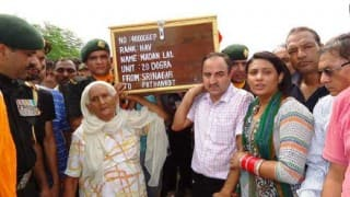 Punjab: Proud 82-year-old mother among pallbearers, carries brave son's coffin in Pathankot