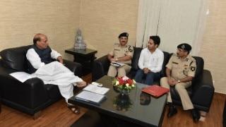 Rajnath Singh meets Jammu and Kashmir boy who tops BSF exam