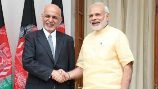 Prime Minister Narendra Modi meets Afghan President Ashraf Ghani