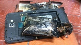 Fire in Samsung Galaxy Note 2 inside aircraft