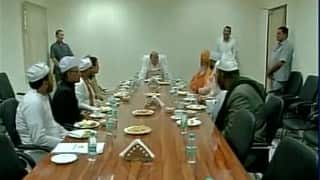 Muslim spiritual heads discuss Kashmir situation with Rajnath Singh