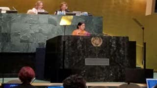 Sushma Swaraj speech at UN: Stern warning to Pakistan - 'Those living in glass houses shouldn't throw stone at others' (Watch full video)