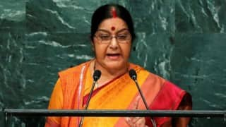Abandon 'dream' of obtaining Kashmir: Sushma Swaraj to Pakistan