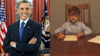 Barack Obama shares video of young American boy Alex offering home to refugee
