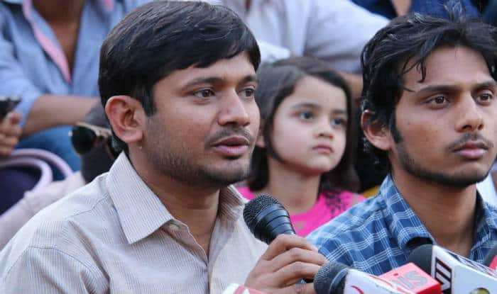 Kanhaiya Kumar faces demonstration by BJP workers