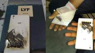 Reliance Jio 4G SIM supporting LYF smartphone blasts in user's hand, image goes viral!