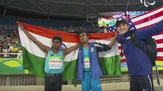 Rio Paralympics 2016: Mariyappan Thangavelu wins gold, Varun Bhati silver in Rio Paralympics
