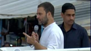 Modi will meet Obama but not farmers: Rahul Gandhi at Kisan Yatra in Azamgarh, Uttar Pradesh