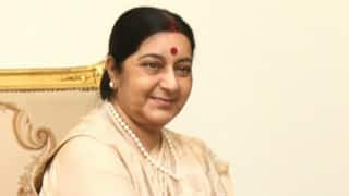 Sushma Swaraj to extend stranded UK couple's Indian visa