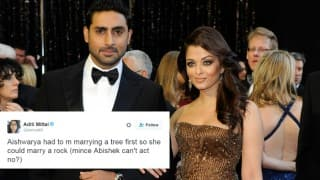 Comedienne Aditi Mittal mocked Abhishek Bachchan for his acting skills and the actor just outstripped it with humor