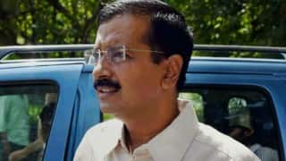 Arvind Kejriwal shown black flags again after landing in Amritsar