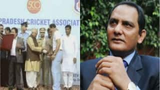 India vs New Zealand 1st Test 2016: Mohammed Azharuddin felicitated in Kanpur as India play 500th Test match