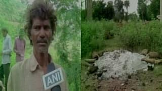 Tribal in Madhya Pradesh forced to cremate wife using garbage