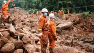 Four killed 23 missing in landslides in China