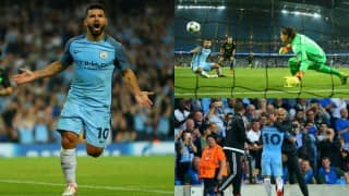 Sergio Aguero triple gives Manchester City belated lift-off