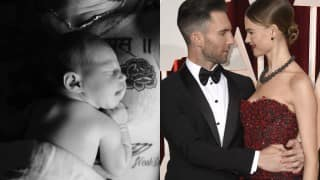Adam Levine, wife Behati Prinsloo share first image of newborn daughter