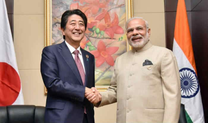 Prime Minister Narendra Modi with his Japanese counterpart Shinzo Abe (File image)