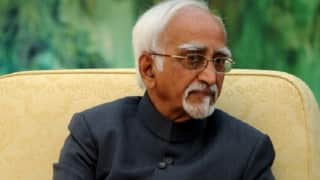 Can't be recipient of terror attacks always: Vice President Hamid Ansari