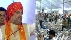 Surat: Massive protest at Amit Shah's Patidar rally, crowd break…