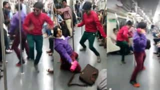These two boys dancing to Cheap Thrills turned the otherwise dull Delhi Metro ride into pole-dance party