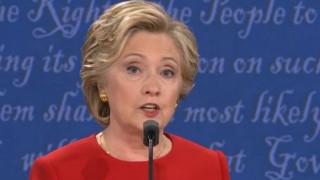 हिलेरी ने राष्ट्रपति पद के लिए जीती पहली बहस