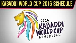 Kabaddi World Cup 2016: Get Complete Schedule, Fixture, Date, Match Time & Venue Details