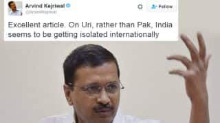 Twitterati bash Arvind Kejriwal, call him 'anti-India', 'traitor' for sharing article favoring Pakistan on Uri attack